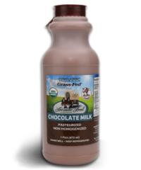 One Pint Organic Chocolate Whole Non-Homogenized Cow Milk
