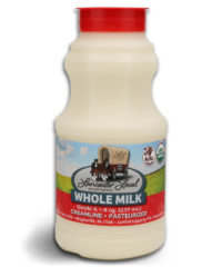 Half Pint Organic Whole Non-Homogenized Cow Milk