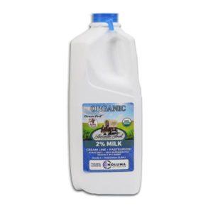 Half Gallon Organic 2% Pasteurized Creamline Cow Milk