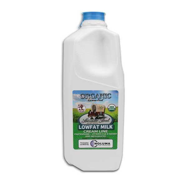 Half Gallon Organic Low Fat Non-Homogenized Cow Milk