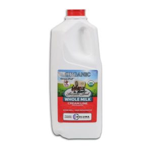 Half Gallon Organic Whole Non-Homogenized Cow Milk