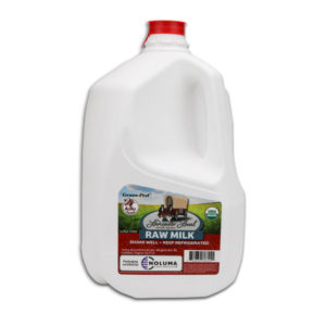 One Gallon Organic Raw Cow Milk
