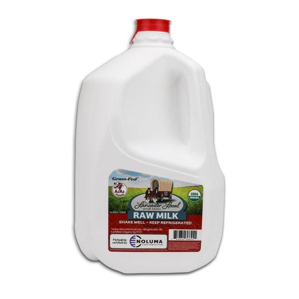 One Gallon Organic Raw Cow Milk
