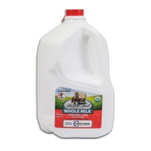 One Gallon Organic Whole Non-Homogenized Cow Milk