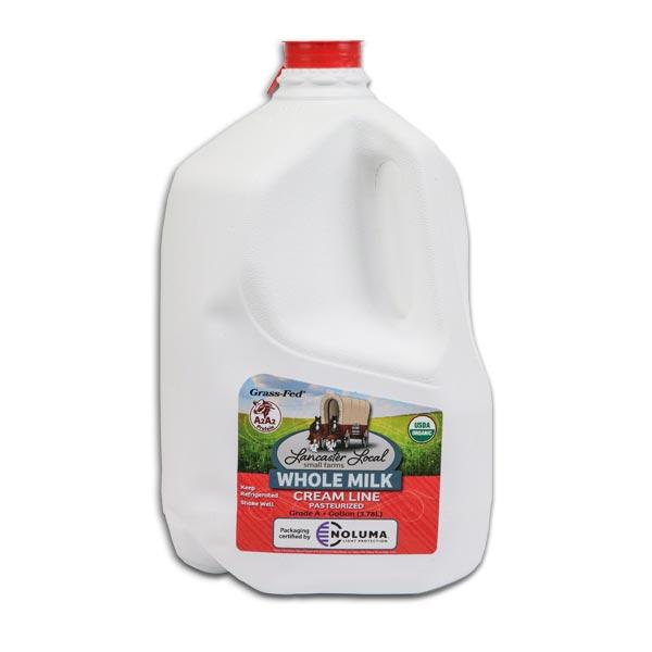 One Gallon Organic Whole Non-Homogenized Cow Milk