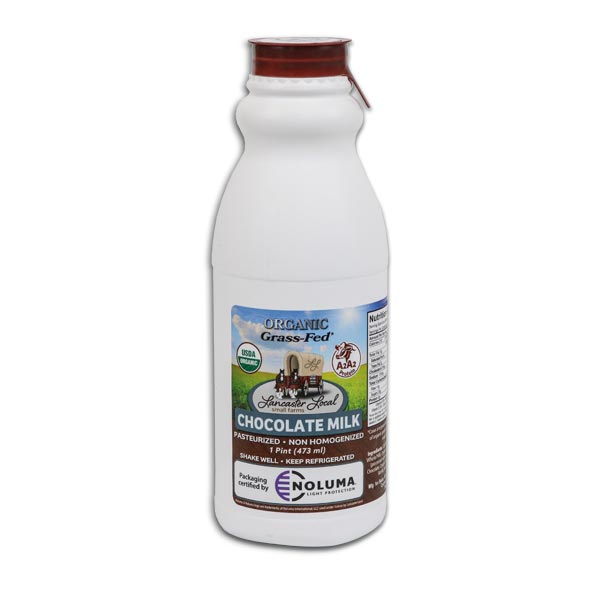 One Pint Organic Chocolate Whole Non-Homogenized Cow Milk