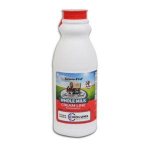 One Pint Organic Whole Non-Homogenized Cow Milk