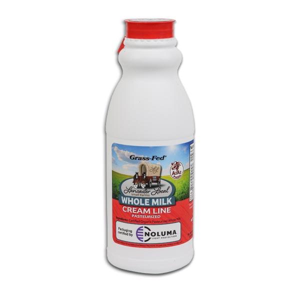 One Pint Organic Whole Non-Homogenized Cow Milk
