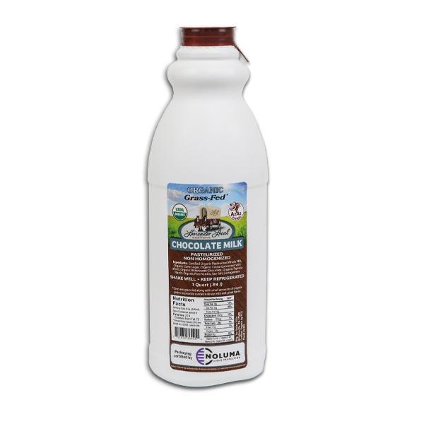 One Quart Organic Chocolate Whole Non-Homogenized Cow Milk