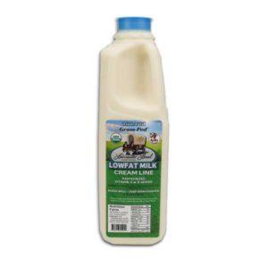 One Quart Organic Low Fat Non-Homogenized Cow Milk