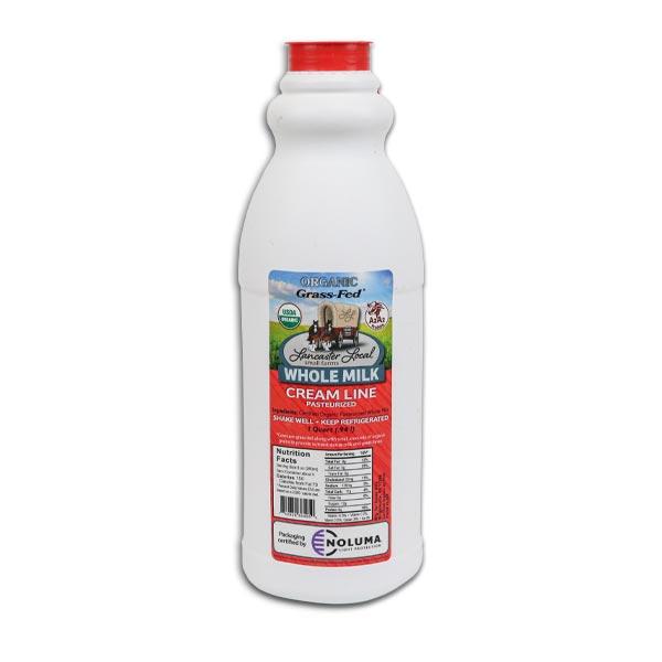 One Quart Organic Whole Non-Homogenized Cow Milk