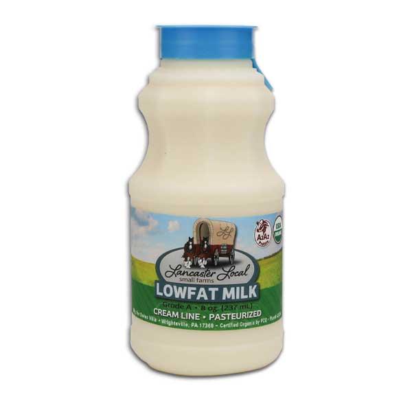 Half Pint Organic Low Fat Non-Homogenized Cow Milk