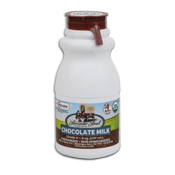 Half Pint Organic Chocolate Whole Non-Homogenized Cow Milk