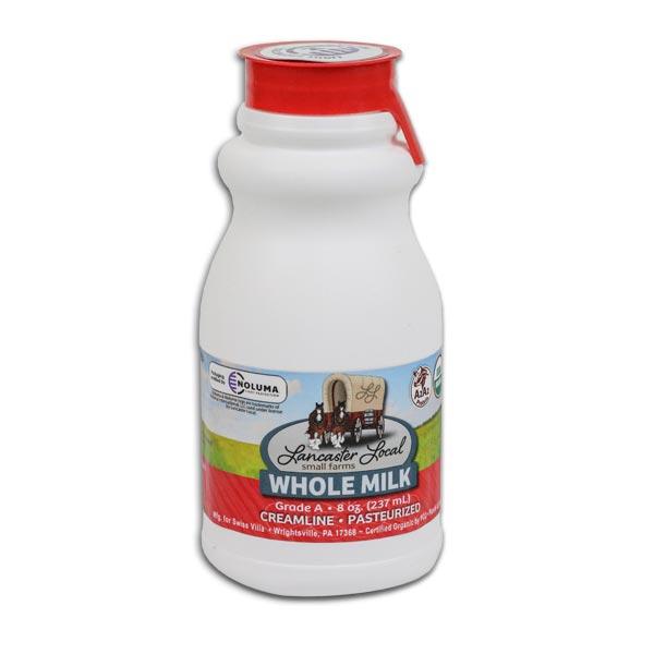 Half Pint Organic Whole Non-Homogenized Cow Milk